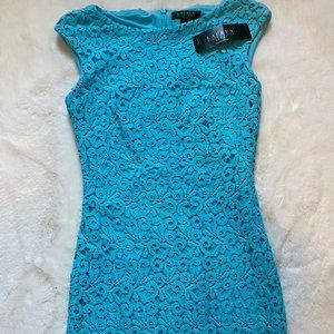 NWT Ralph Lauren Essentials Turquoise Lace Dress
